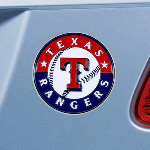 "MLB - Texas Rangers Emblem - Color 3"" x 3.2"""