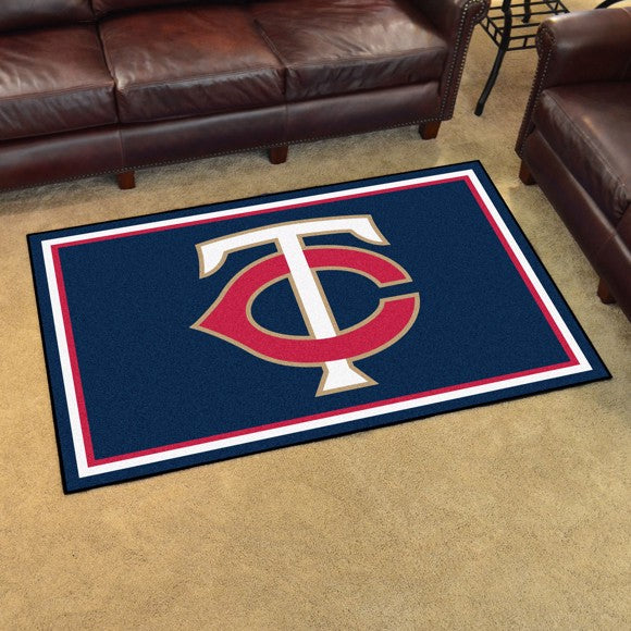 "MLB - Minnesota Twins 4'x6' Plush Rug 44"" x 71"""