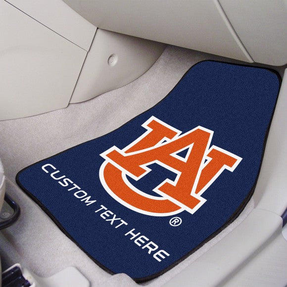 Auburn Personalized Carpet Car Mat Set 17