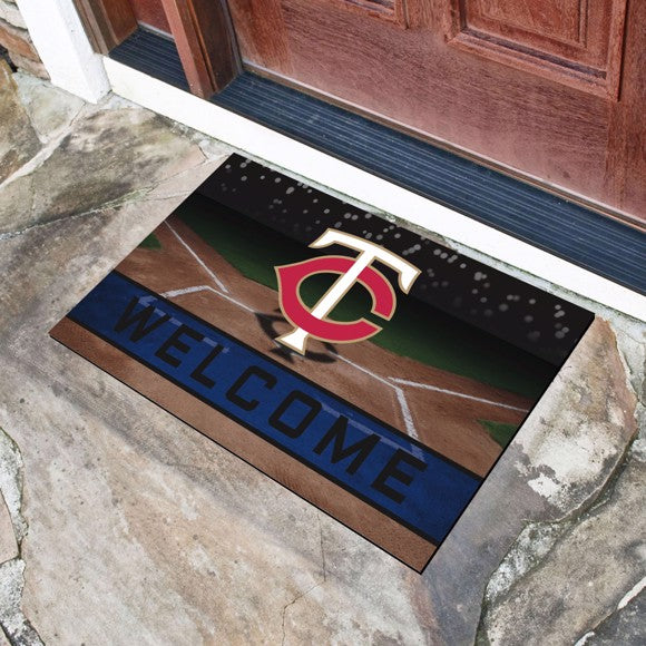 "MLB - Minnesota Twins Crumb Rubber Door Mat 18"" x 30"""