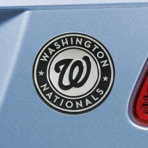 "MLB - Washington Nationals Emblem - Chrome 3"" x 3.2"""
