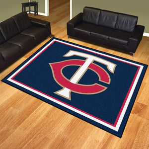 "MLB - Minnesota Twins 8'x10' Plush Rug 87"" x 117"""