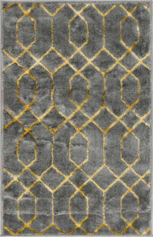 Gray Gold Luxury Area Rug