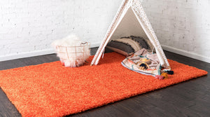 Tiger Orange Shag Rug