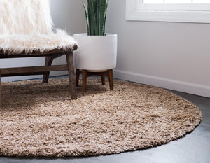 Sandy Brown Shag Rug