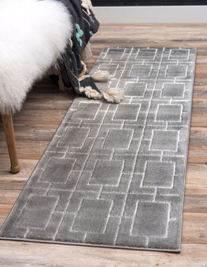 Gray Silver Luxury Area Rug