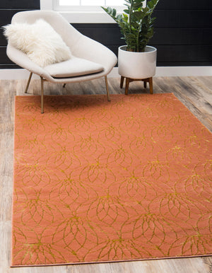 Coral Gold Luxury Area Rug