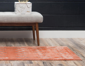 Coral Silver Luxury Area Rug