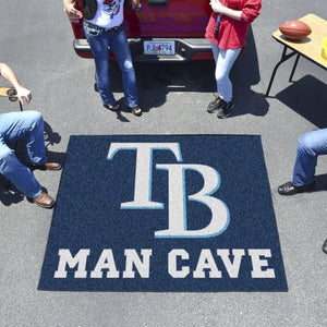 "MLB - Tampa Bay Rays Man Cave Tailgater 59.5"" x 71"""