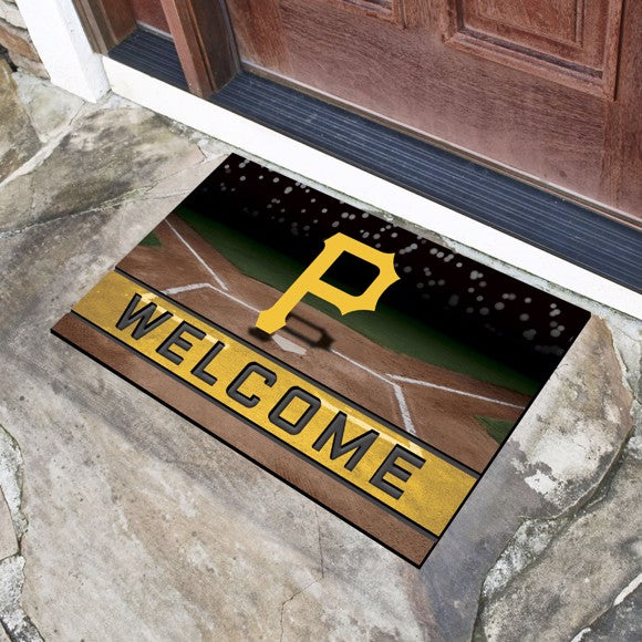 "MLB - Pittsburgh Pirates Crumb Rubber Door Mat 18"" x 30"""