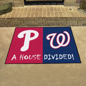 "MLB House Divided - Phillies / Nationals 33.75"" x 42.5"""