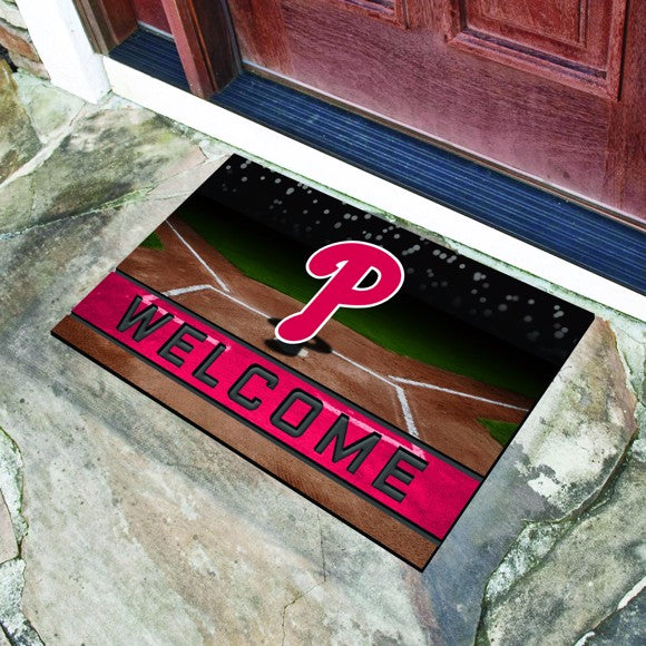 "MLB - Philadelphia Phillies Crumb Rubber Door Mat 18"" x 30"""