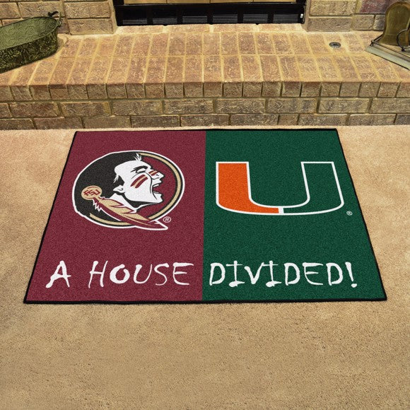"House Divided - Florida State / Miami 33.75"" x 42.5"""