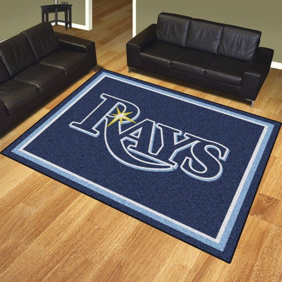 MLB - Tampa Bay Rays 8'x10' Plush Rug 87