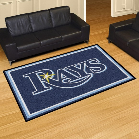 MLB - Tampa Bay Rays 5'x8' Plush Rug 59.5