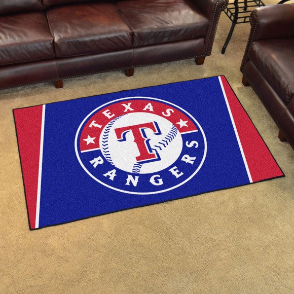 MLB - Texas Rangers 4'x6' Plush Rug 44