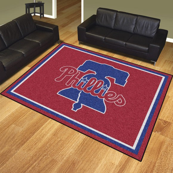 "MLB - Philadelphia Phillies 8'x10' Plush Rug 87"" x 117"""