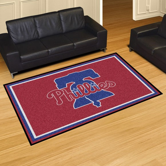 "MLB - Philadelphia Phillies 5'x8' Plush Rug 59.5"" x 88"""