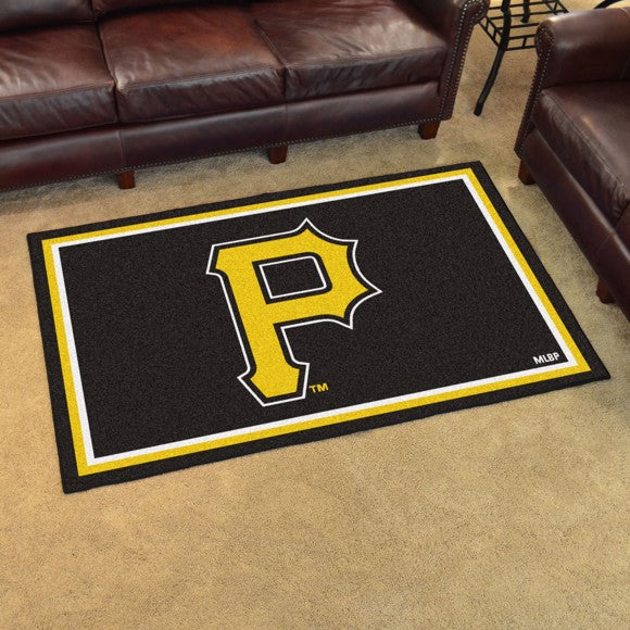 "MLB - Pittsburgh Pirates 4'x6' Plush Rug 44"" x 71"""