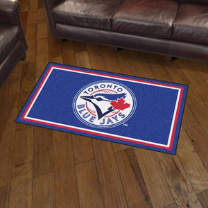 MLB - Toronto Blue Jays 3'x5' Plush Rug 3' x 5'