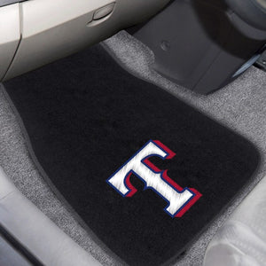 "MLB - Texas Rangers Embroidered Car Mat Set 17"" x 25.5"""