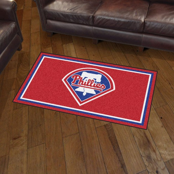 MLB - Philadelphia Phillies 3'x5' Plush Rug 3' x 5'