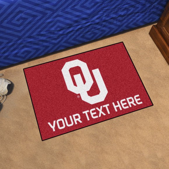 Personalized University of Oklahoma Starter Mat