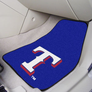 "MLB - Texas Rangers Carpet Car Mat Set 17"" x 27"""