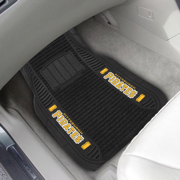 "MLB - Pittsburgh Pirates Deluxe Car Mat Set 21"" x 27"""