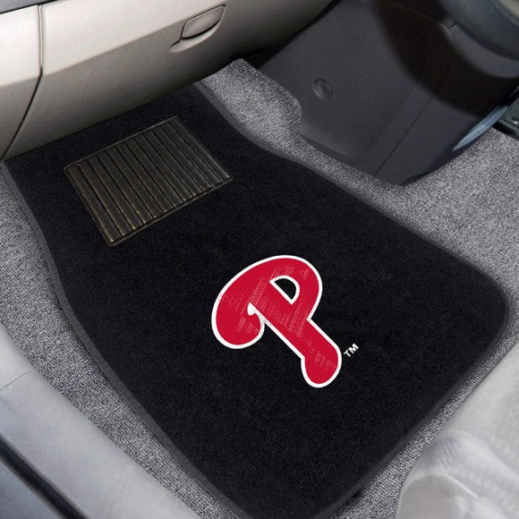 "MLB - Philadelphia Phillies Embroidered Car Mat Set 17"" x 25.5"""