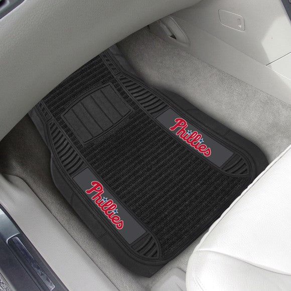 "MLB - Philadelphia Phillies Deluxe Car Mat Set 21"" x 27"""