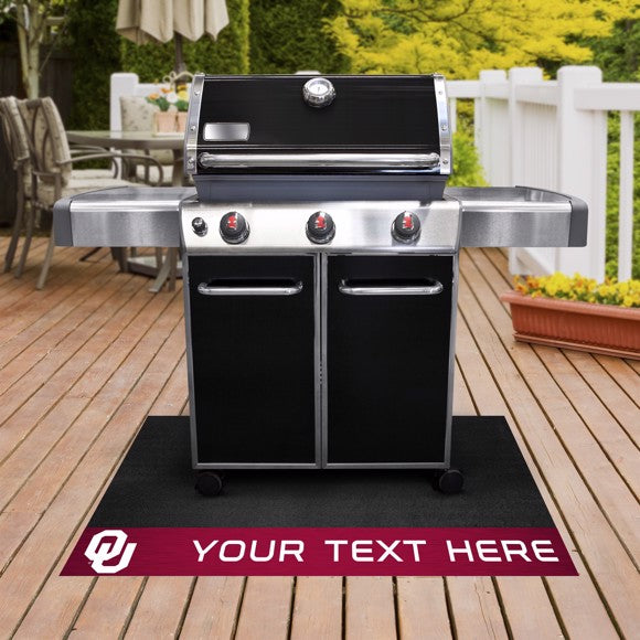 Personalized University of Oklahoma Grill Mat