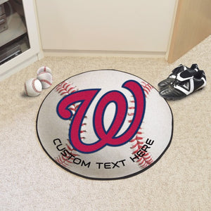 Washington Nationals Personalized Baseball Mat