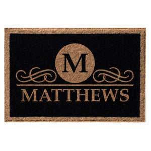 Premium Welcome Elegant Circle Mat Black