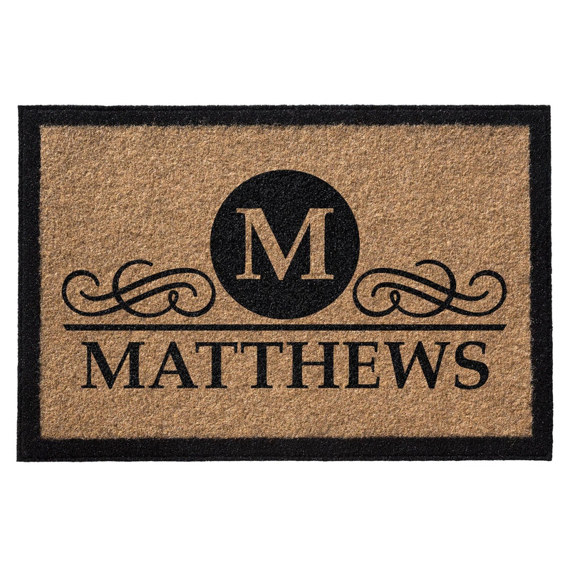 Premium Welcome Elegant Circle Mat Gold