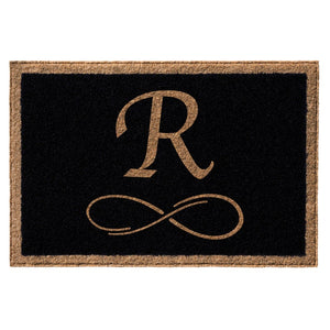 Premium Welcome Forever Home Mat Black