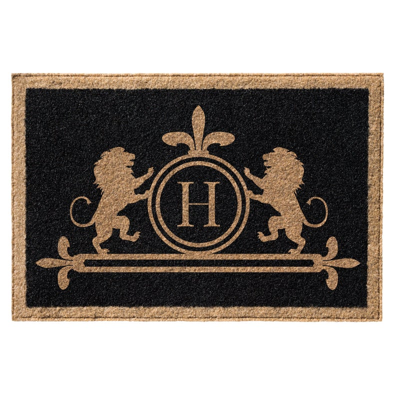 Premium Welcome Luxury Lion Mat Black