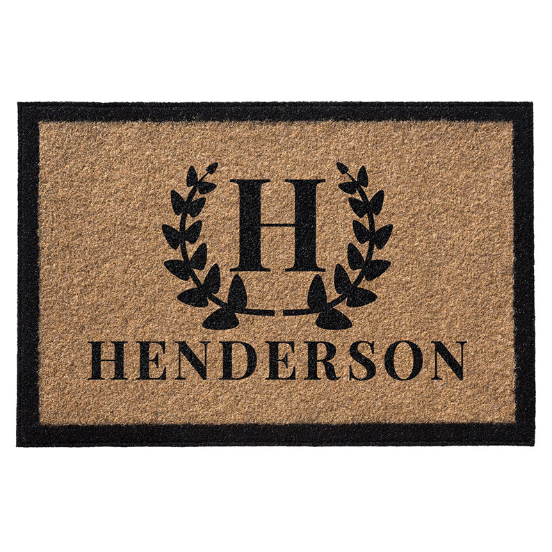 Premium Welcome Wreath Mat Gold