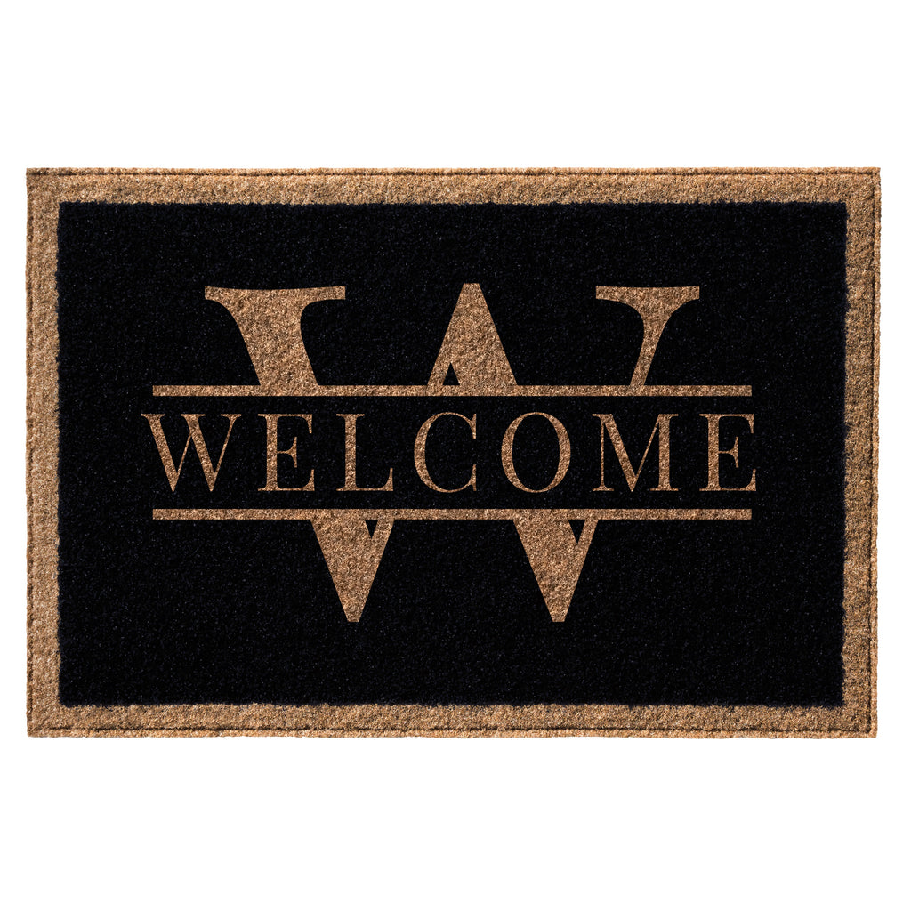 Premium Welcome Luxury Name Mat Black