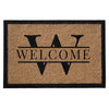 Premium Welcome Luxury Name Mat Gold