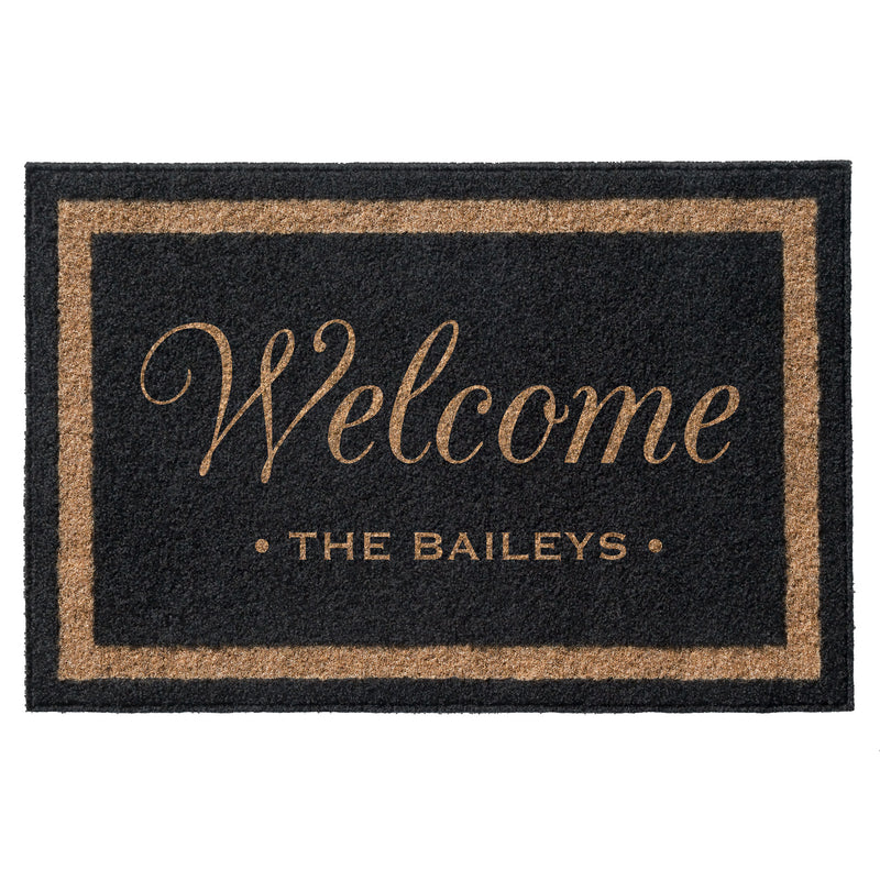Premium Welcome Mat Black