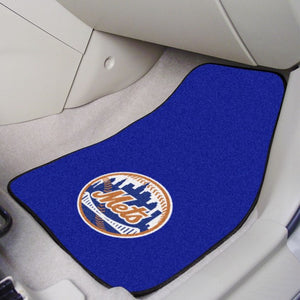 "MLB - New York Mets Carpet Car Mat Set 17"" x 27"""