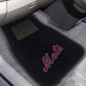 "MLB - New York Mets Embroidered Car Mat Set 17"" x 25.5"""
