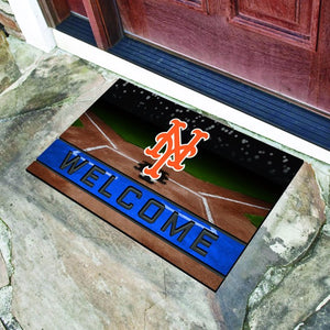 "MLB - New York Mets Crumb Rubber Door Mat 18"" x 30"""