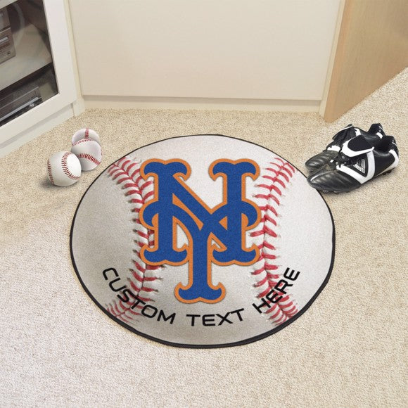 New York Mets Personalized Baseball Mat