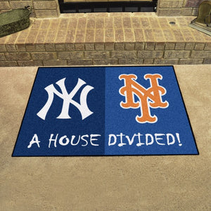 "MLB House Divided - Yankees / Mets 33.75"" x 42.5"""