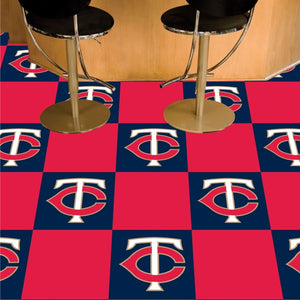 "MLB - Minnesota Twins Team Carpet Tiles 18"" x 18"""