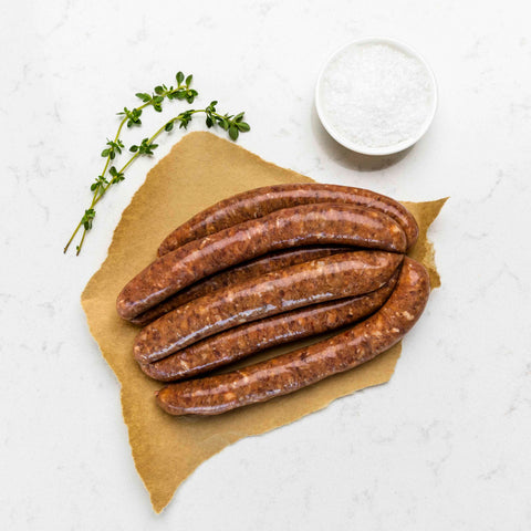 Lamb Bacon and Liver Sausages 500g