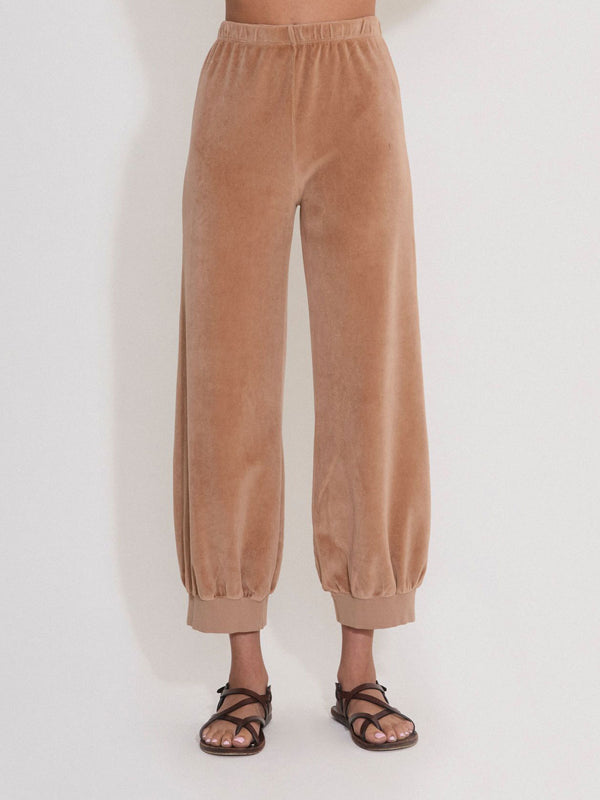High Waist Harem Pants - Camel