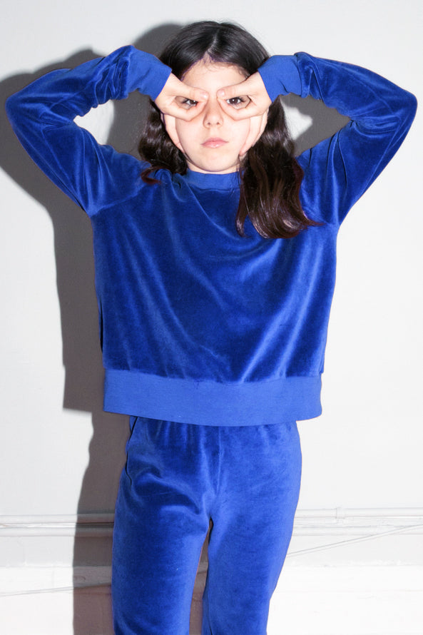 Kid's Crew Top - Electric Blue